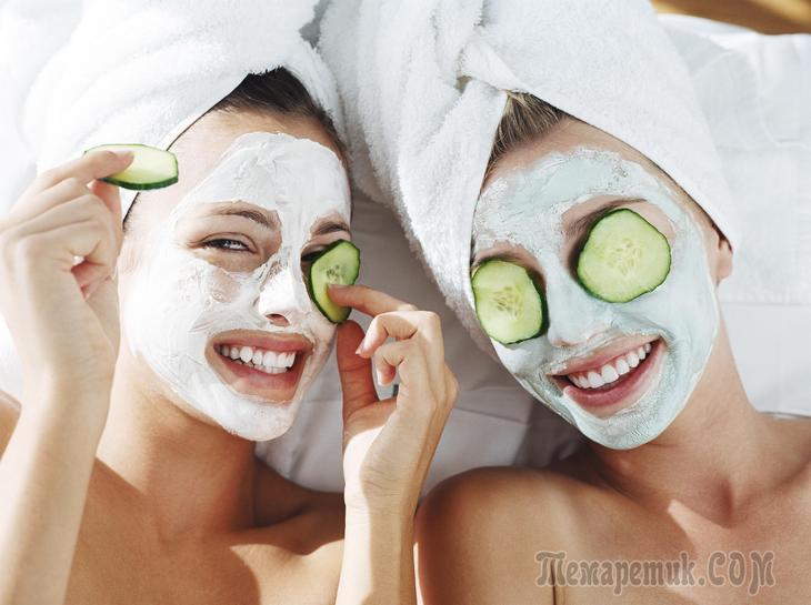 Как сделать маску для лица используя огурец