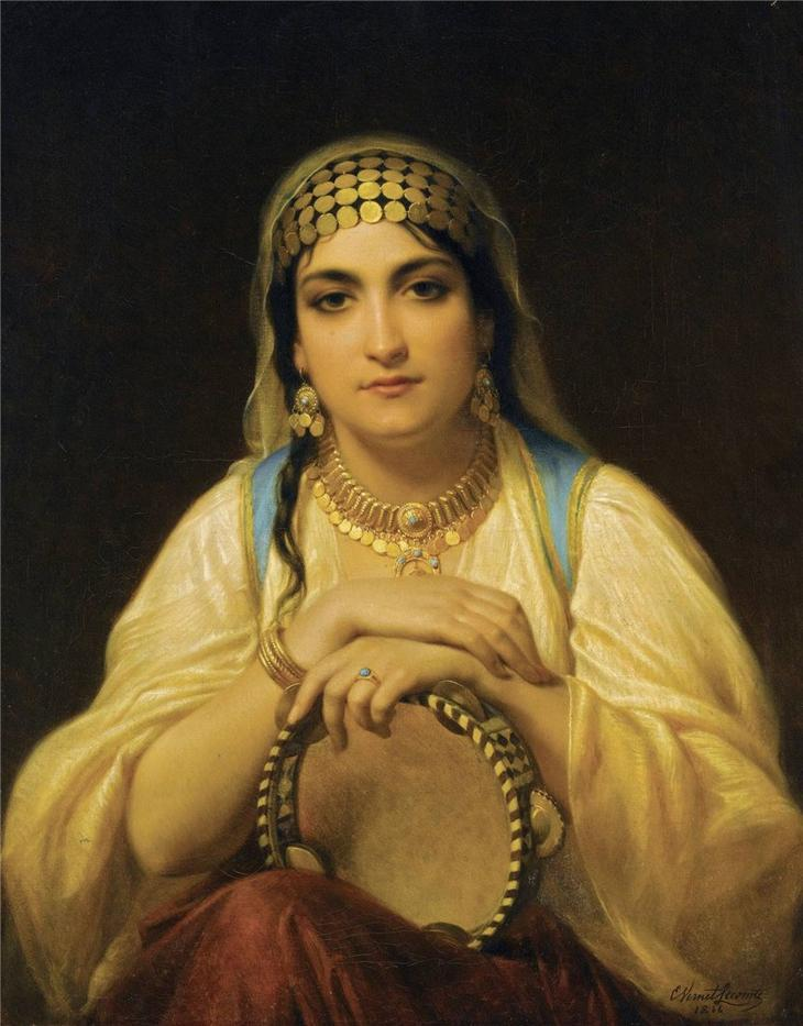 Gypsy woman by Pierre Auguste Cot
