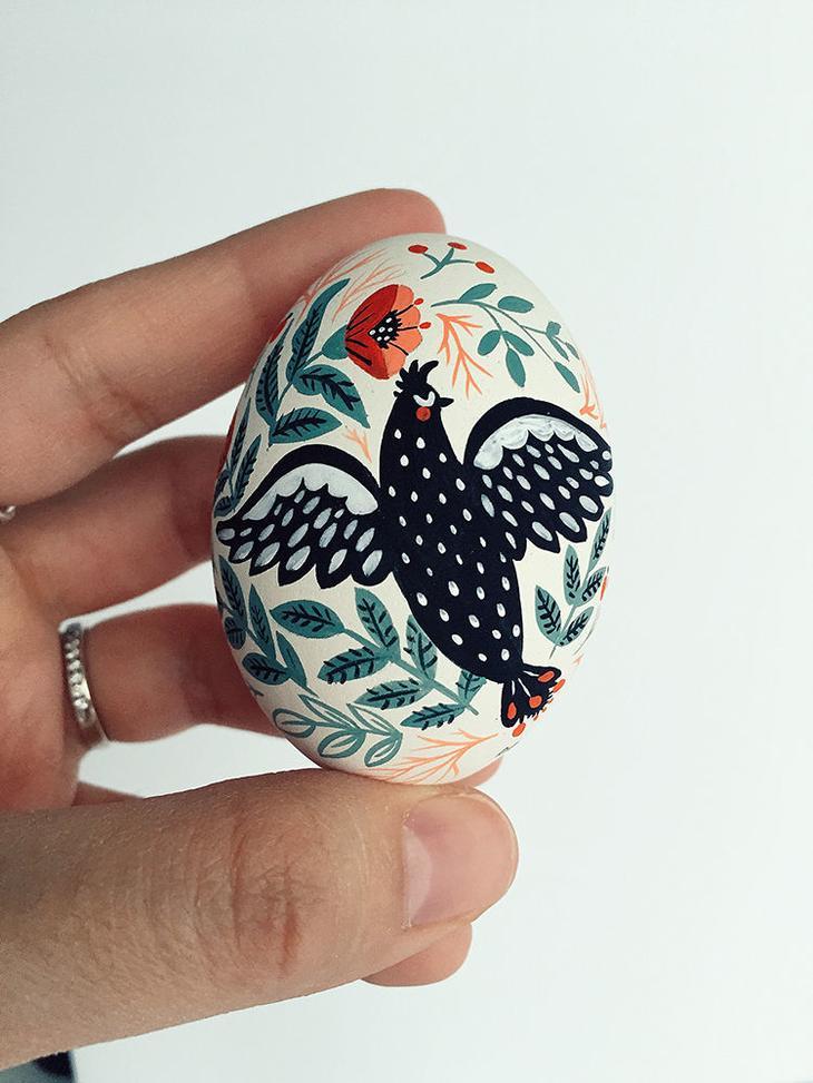 Пасхальные яйца фольклорные мотивы от художницы из Узбекистана Динары Мирталиповой, фото № 35