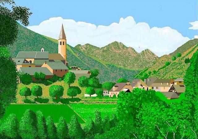 91-летняя испанка рисует невероятно детализированные картины... в MS Paint