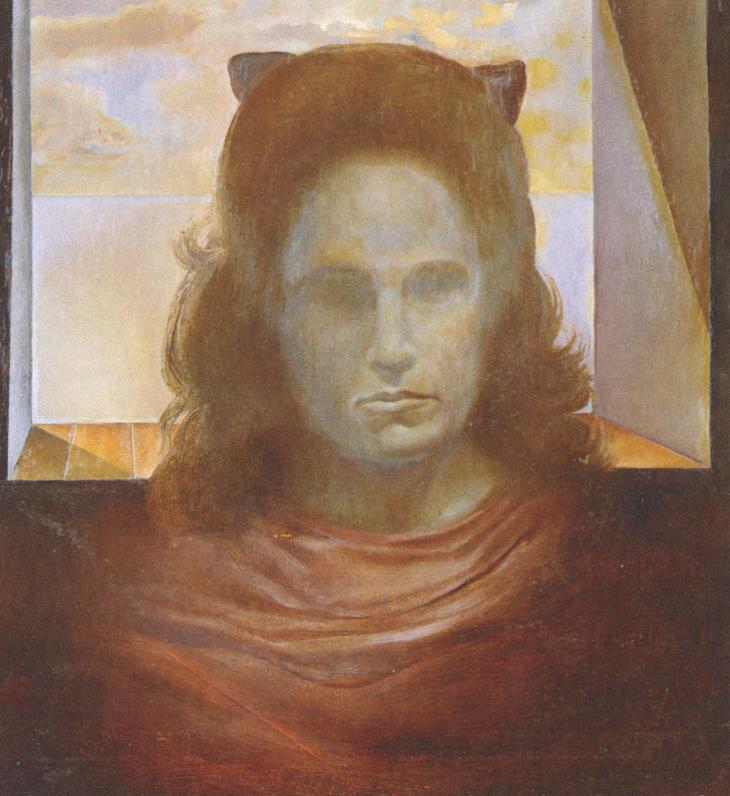 Портрет Галы против света. Сальвадор Дали, 1965