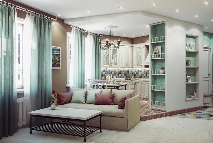 Двухкомнатная квартира в стиле Прованс