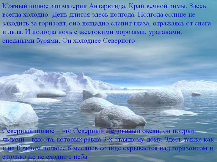 Северный и Южный полюса