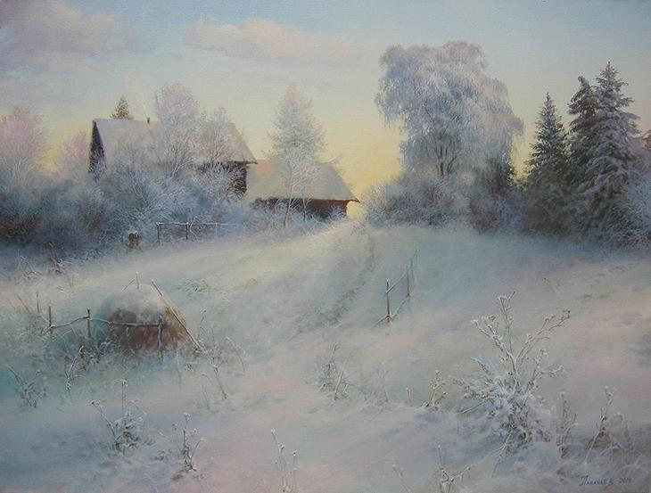 МороÐный день - картина Ð'.Ð.Палачева