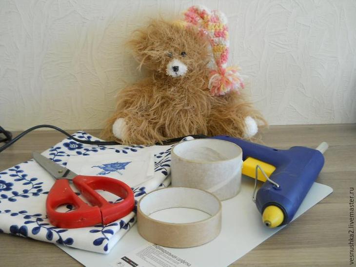 Мастер-класс: делаем шкатулку с вышивкой из бобин от скотча, фото № 1