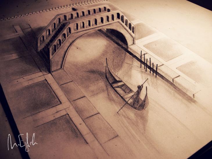 3Ddrawings05 Самые впечатляющие карандашные 3D рисунки от художников со всего света