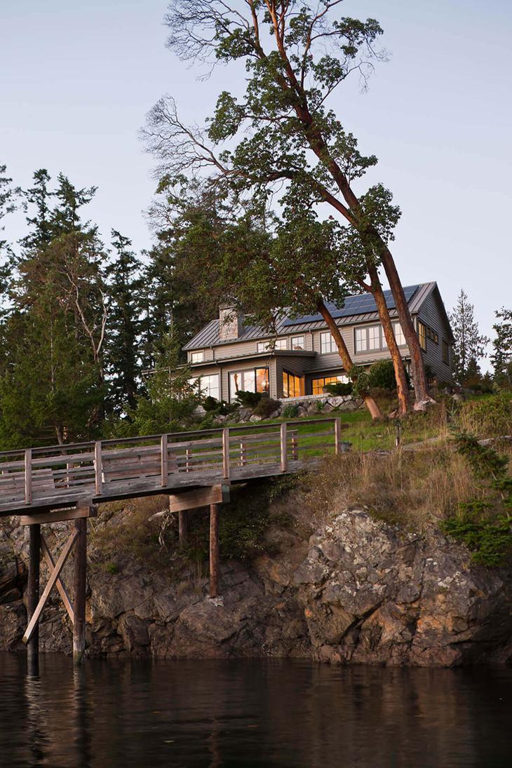 Уединенный дом отдыха на острове Оркас в штате Вашингтон