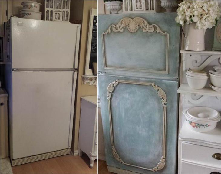 Декор холодильника до и после