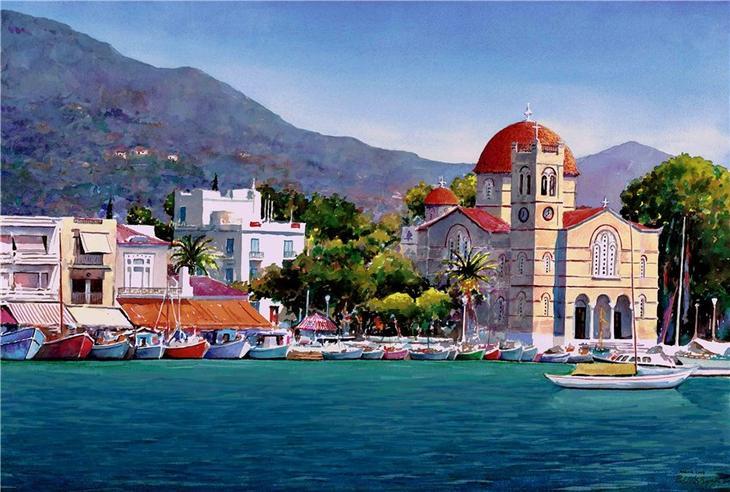 Греция в акварели от художника Pantelis Zografos