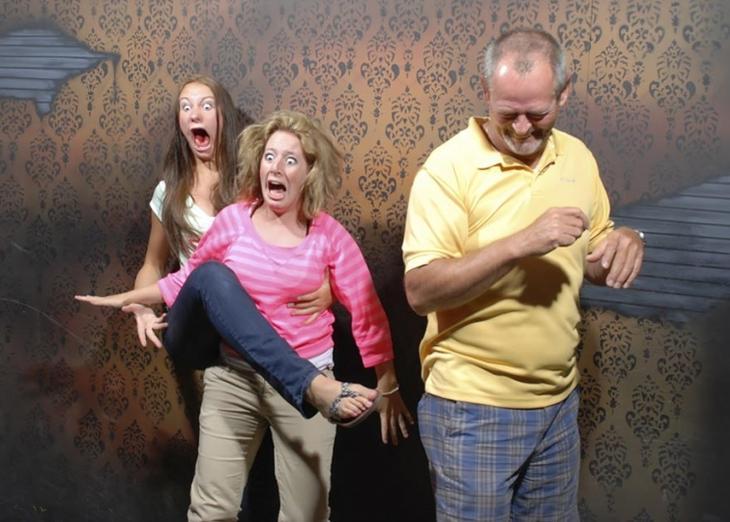 «Nightmares Fear Factory», Фабрика ночных кошмаров, люди в комнате ужасов, люди в комнате страха