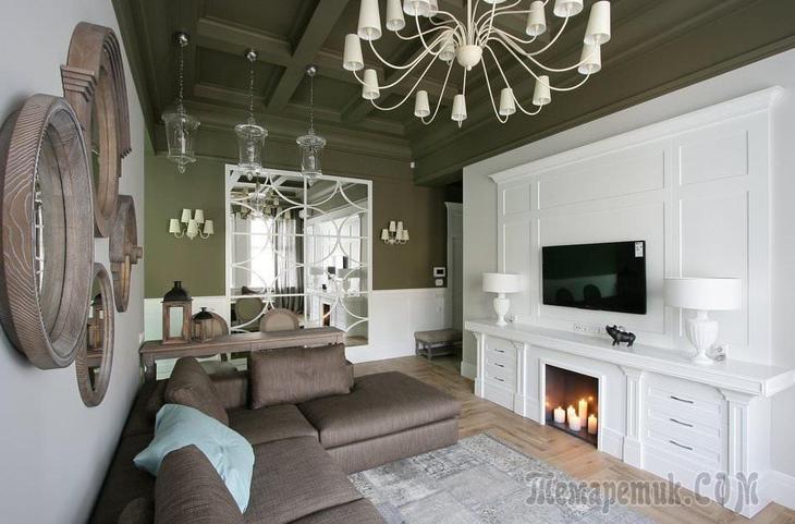 Дизайн квартиры 56 кв. м. в стиле современная классика