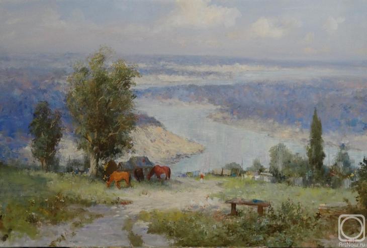 Картина маслом на холсте. Комаров Николай. Тихий дон