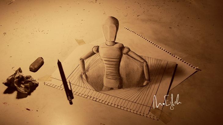 3Ddrawings21 Самые впечатляющие карандашные 3D рисунки от художников со всего света