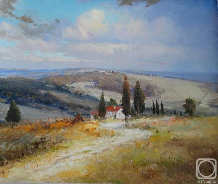 Картина маслом на холсте. Комаров Николай. Италия