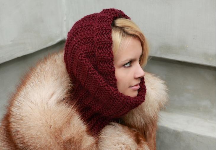 Снуд или шарф-труба бесшовный