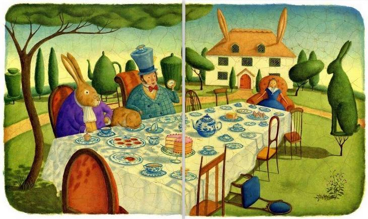 Сказка Алиса в стране чудес Иллюстратор Элисон Джей