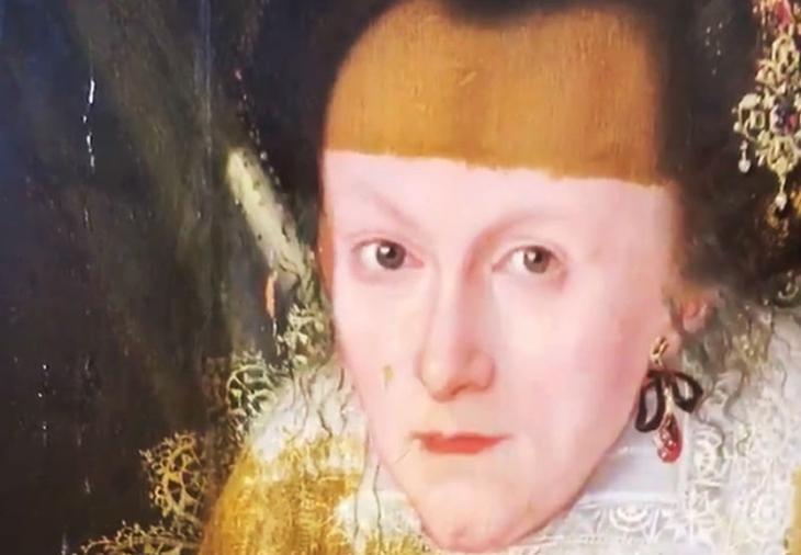 Портрет XVII века очистили от слоя лака, и результат ошеломляет