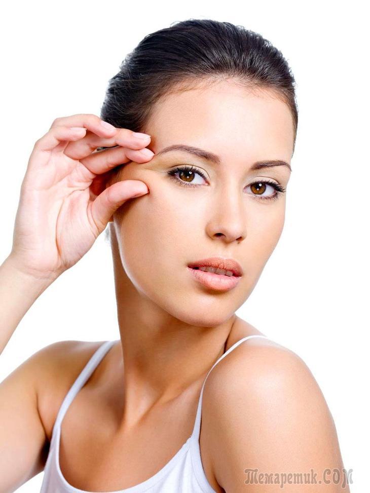 Народные средства и маски  для кожи вокруг глаз от морщин и гусиных лапок