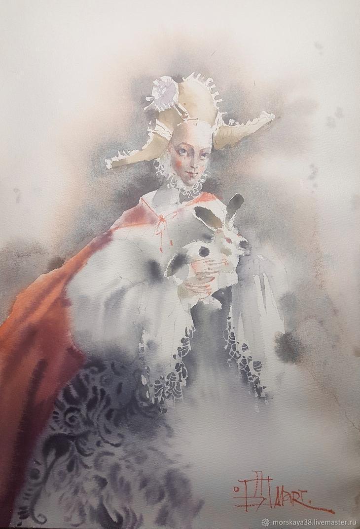 Дама с кроликом, Картины, Москва, Фото №1