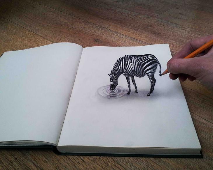 3Ddrawings31 Самые впечатляющие карандашные 3D рисунки от художников со всего света