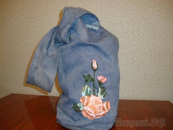 fullsize Выкройка рюкзака из старых джинсов