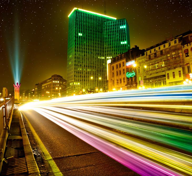 Ночной Брюссель
