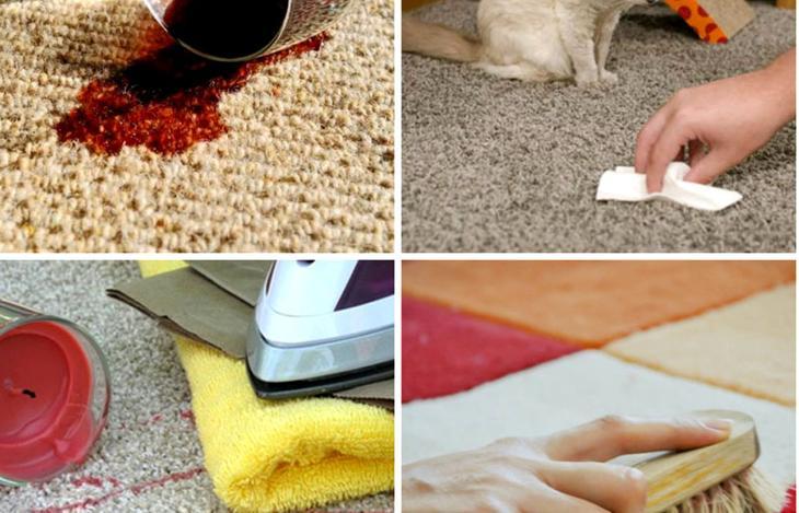 Для пятен разного происхождения применяют свои методы очистки
