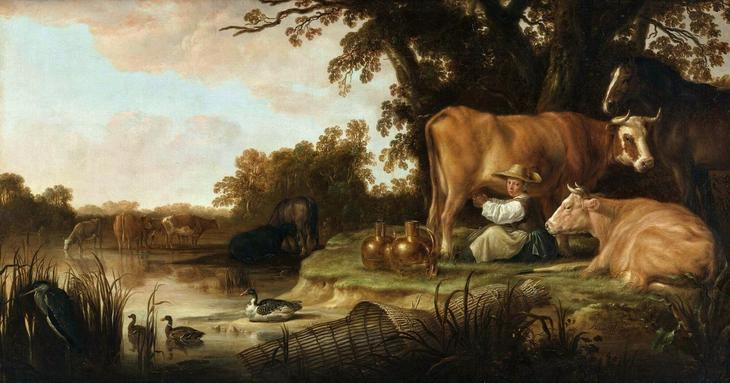 Доярка -- ок1655, 97х173, Музей Бойманс-Бенинген Роттердам