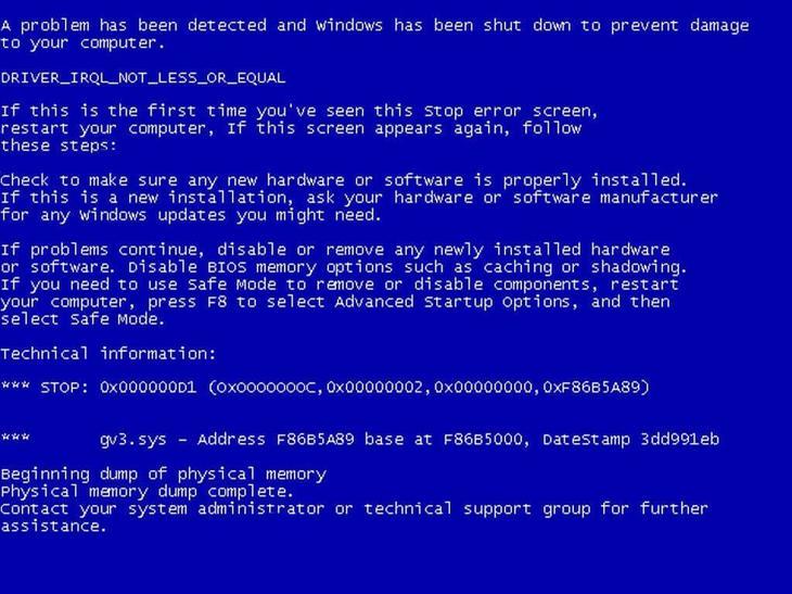 BSOD-синий-экран