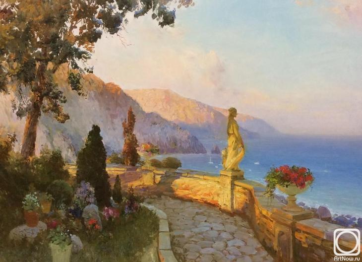 Картина маслом на холсте. Комаров Николай. Вечер в Италии