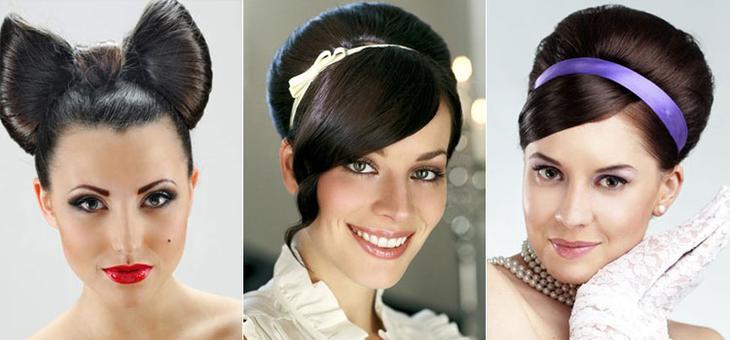 Вечерние прически на средние волосы в стилистике под ретро
