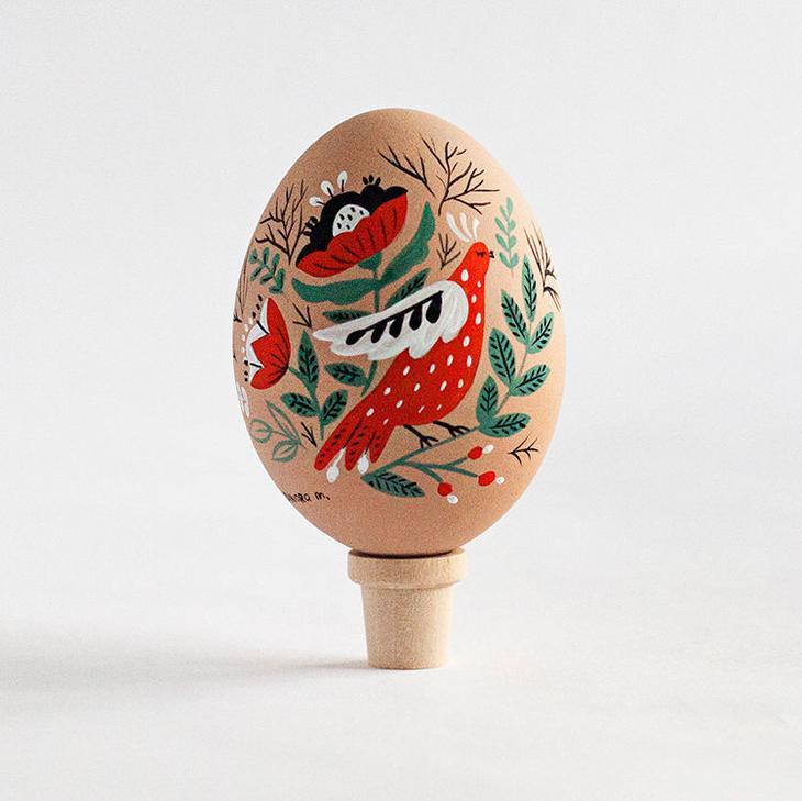 Пасхальные яйца фольклорные мотивы от художницы из Узбекистана Динары Мирталиповой, фото № 42