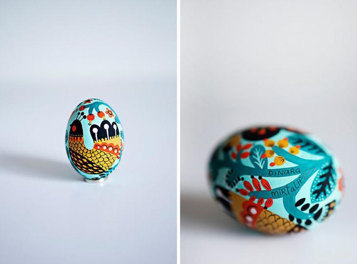 Пасхальные яйца фольклорные мотивы от художницы из Узбекистана Динары Мирталиповой, фото № 5