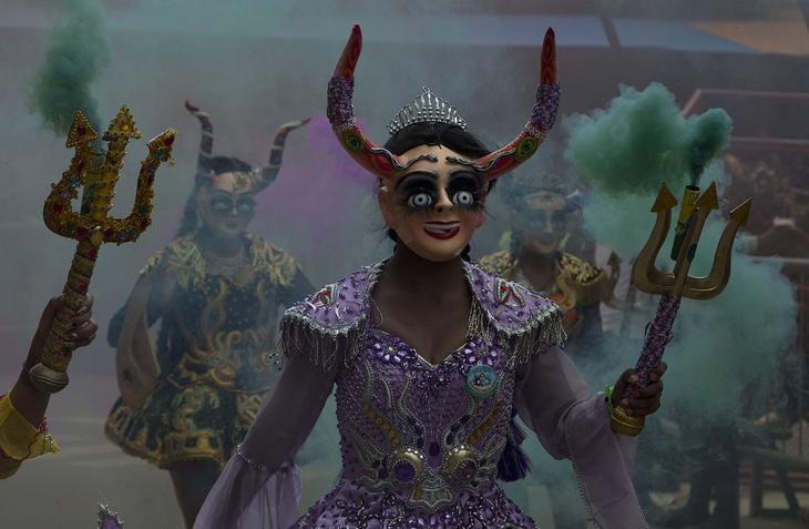 Карнавал в Оруро, Боливия, 10 февраля 2018. loverme