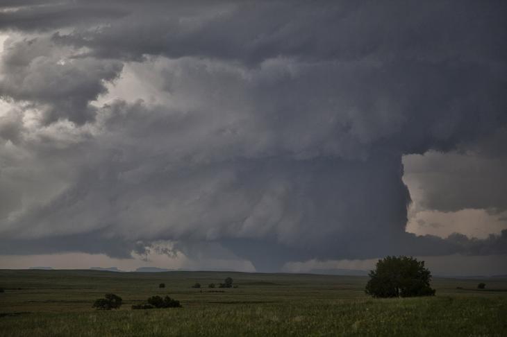 Торнадо класса F3 в штате Монтана
