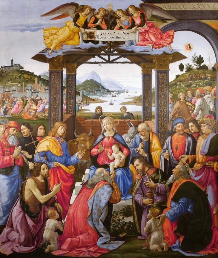 Поклонение волхвов. Доменико Гирландайо.