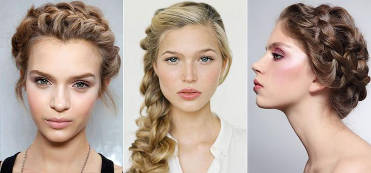 Вечерние прически на средние волосы с элегантной косой