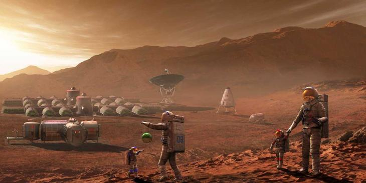 Марсианская база в представлении художника / ©Depositphotos
