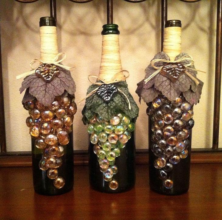 Декор бутылки шампанского на 8 марта — 9 оригинальных способов украшения || Как оформить бутылку в подарок своими руками