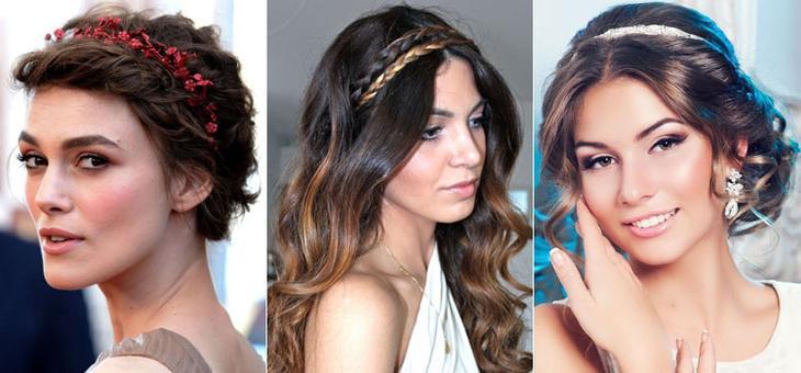 Вечерние прически на средние волосы в греческом стиле