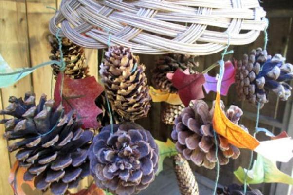 Осенняя поделка в банке с глицерином