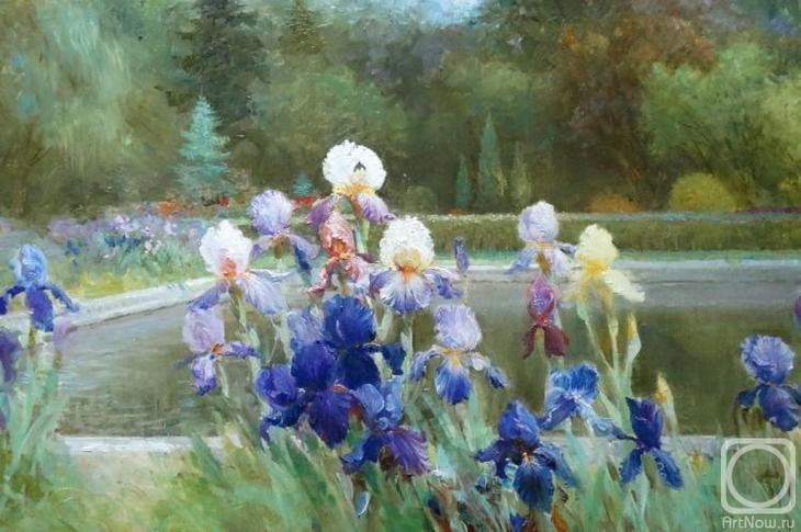 Картина маслом на холсте. Комаров Николай. В парке