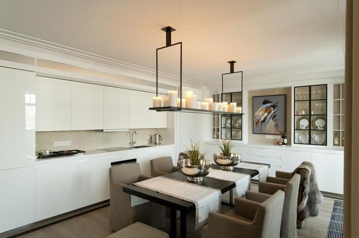 Фотография: Кухня и столовая в стиле Скандинавский, Квартира, Дома и квартиры, Москва – фото на InMyRoom.ru