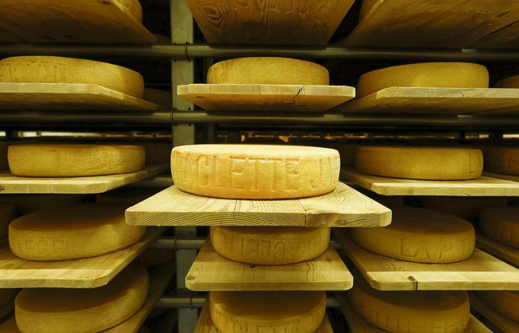 В этом бывшем бункере в городе Гисвиль, Швейцария обосновалась сыроварня, 27 октября 2015. (Фото Arnd Wiegmann | Reuters)