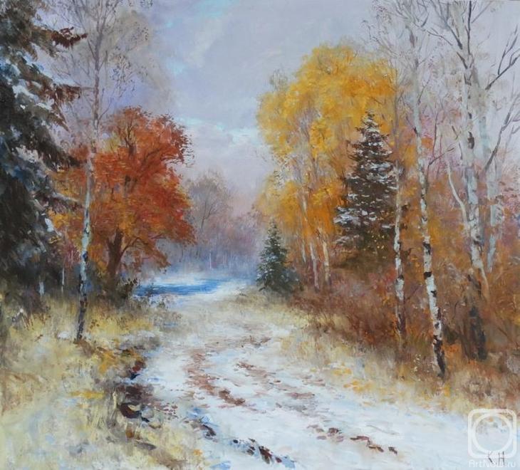 Картина маслом на холсте. Комаров Николай. Осень