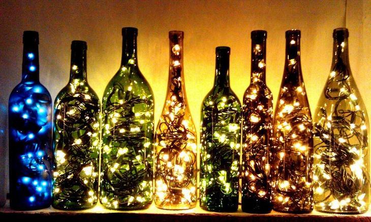 Стеклянные бутылки для дачи