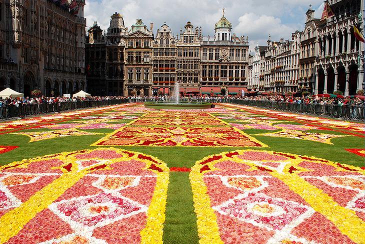 ковры из цветов