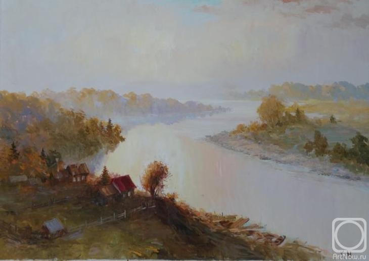 Картина маслом на холсте. Комаров Николай. Ветлуга