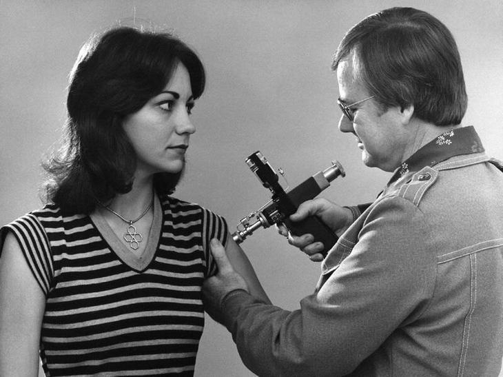 Вакцинация от гриппа в 1976 г.