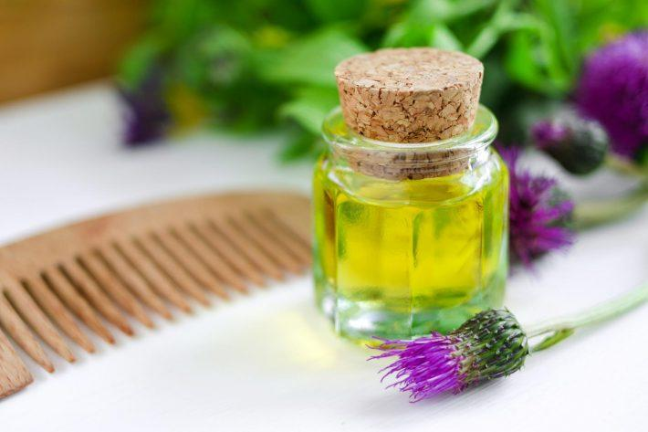 Репейное масло для секущихся кончиков волос